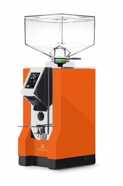 Eureka Mignon Perfetto Orange-Chrom Espressomühle 16cr