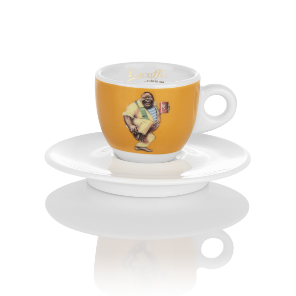 Lucaffe Espressotasse yellow in neuem Design