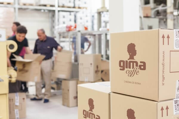 Gima Kaffee Produktion in Rom