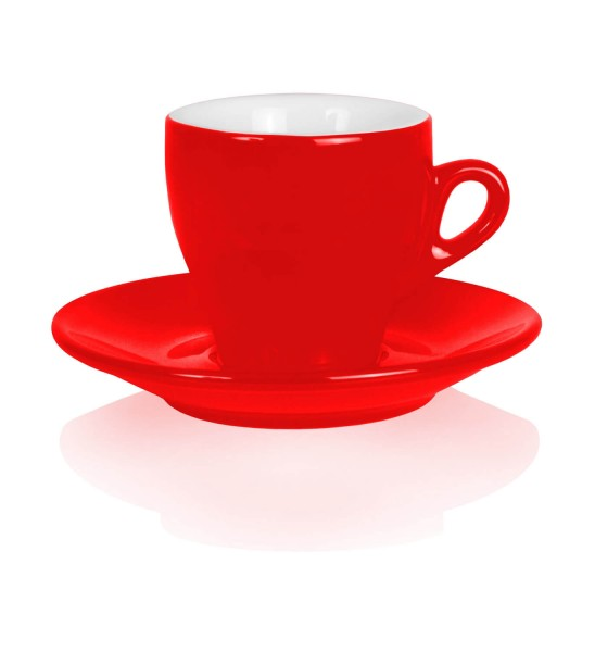 Nuova Point Cappuccinotasse Milano rot 155ml